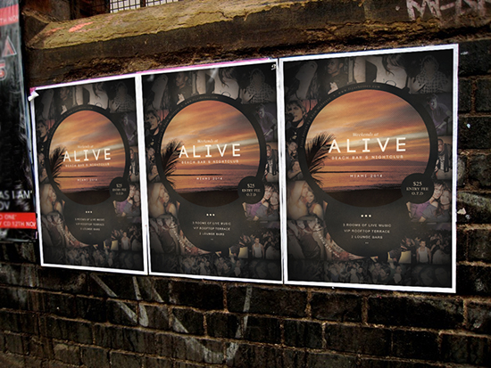 Alive Flyer Template Mockup