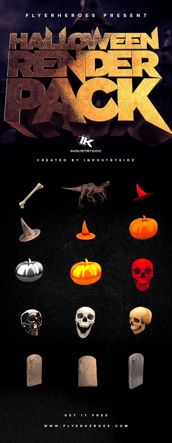 Free Halloween Renders PNGs by INDUSTRYKIDZ