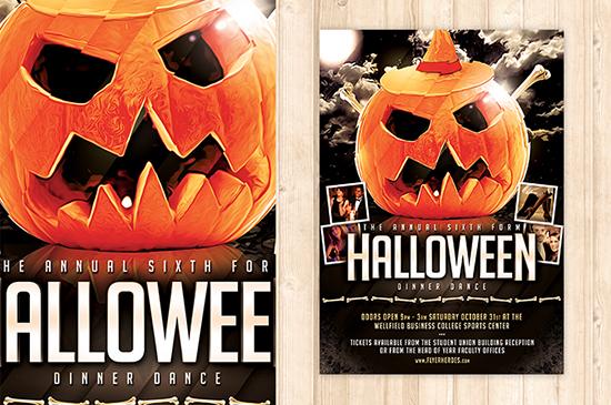 Blank Halloween Flyer Templates Free Halloween party flyer template