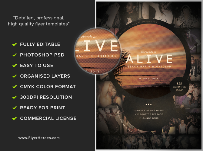 Alive Bar Flyer Template – Bar Flyer Template