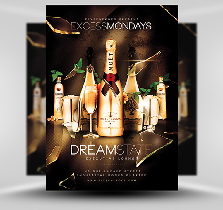 Excess Mondays Flyer Template