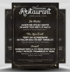 Chalk Menu Flyer Template 1