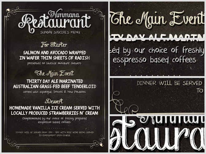Free Chalk Board Menu PSD Flyer Template – Sample Chalkboard Menu Template