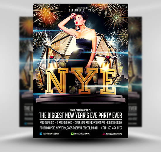 Free New year's Eve Flyer Template
