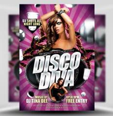 Disco Diva Flyer Template flyerheroes 1