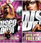 Disco Diva Flyer Template flyerheroes 2