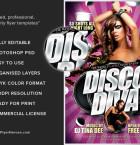 Disco Diva Flyer Template flyerheroes 3