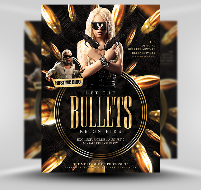 Bullets flyer preview