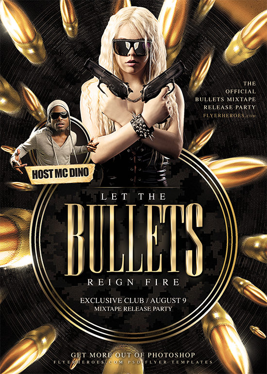 Bullets Flyer Template by FlyerHeroes