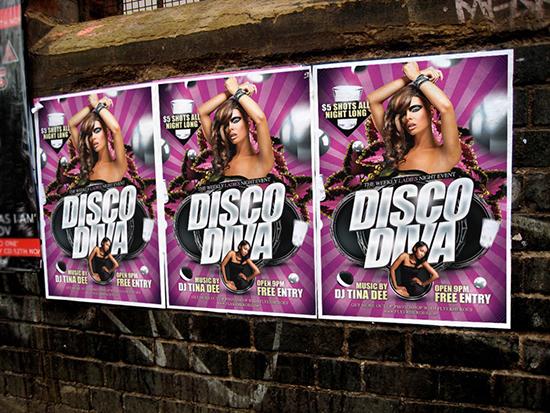 Disco Diva Poster Mockup