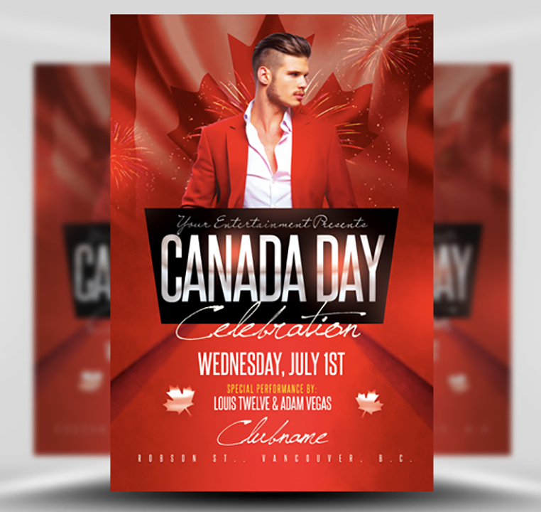Canada Day Flyer Template 2
