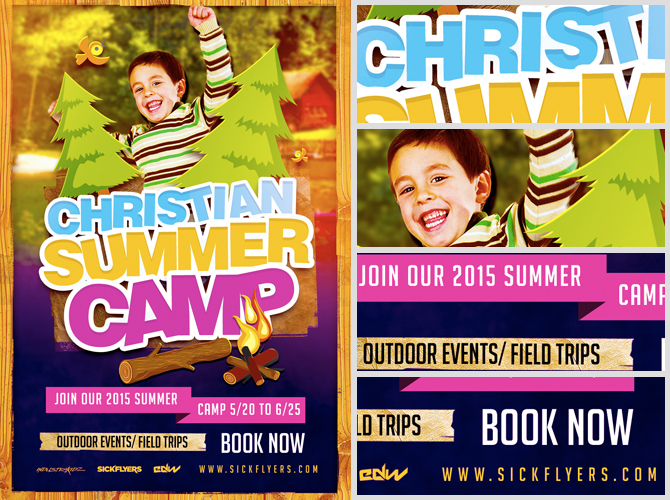 Christian Summer Camp Flyer Template Flyerheroes