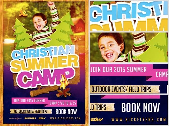 Christian Summer Camp Flyer Template FlyerHeroes – Camp Flyer Template