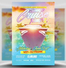 Summer Cruise Party Flyer Template 1