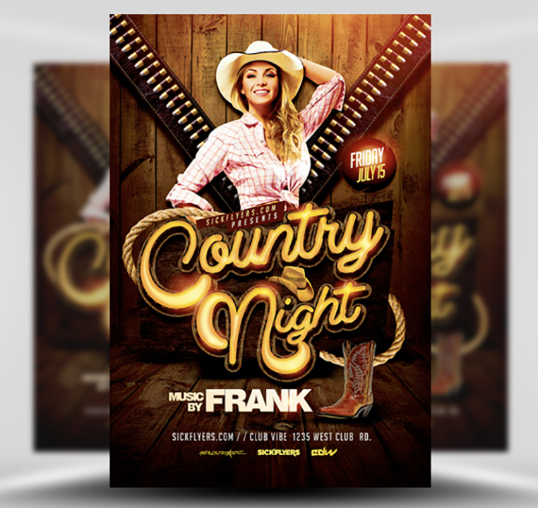 country night western flyer template