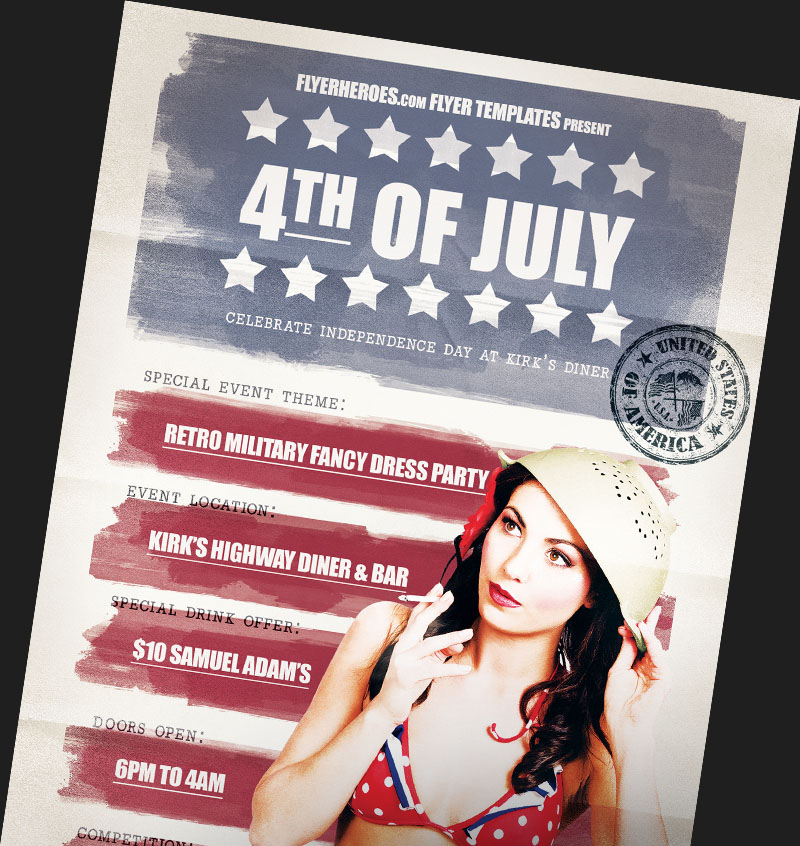 4th Of July Flyer Templates For Photoshop