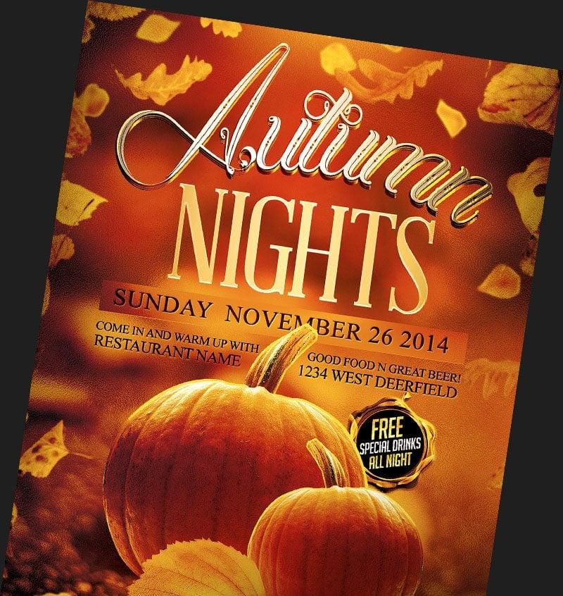 autumn fall flyer templates archives flyerheroes. Black Bedroom Furniture Sets. Home Design Ideas