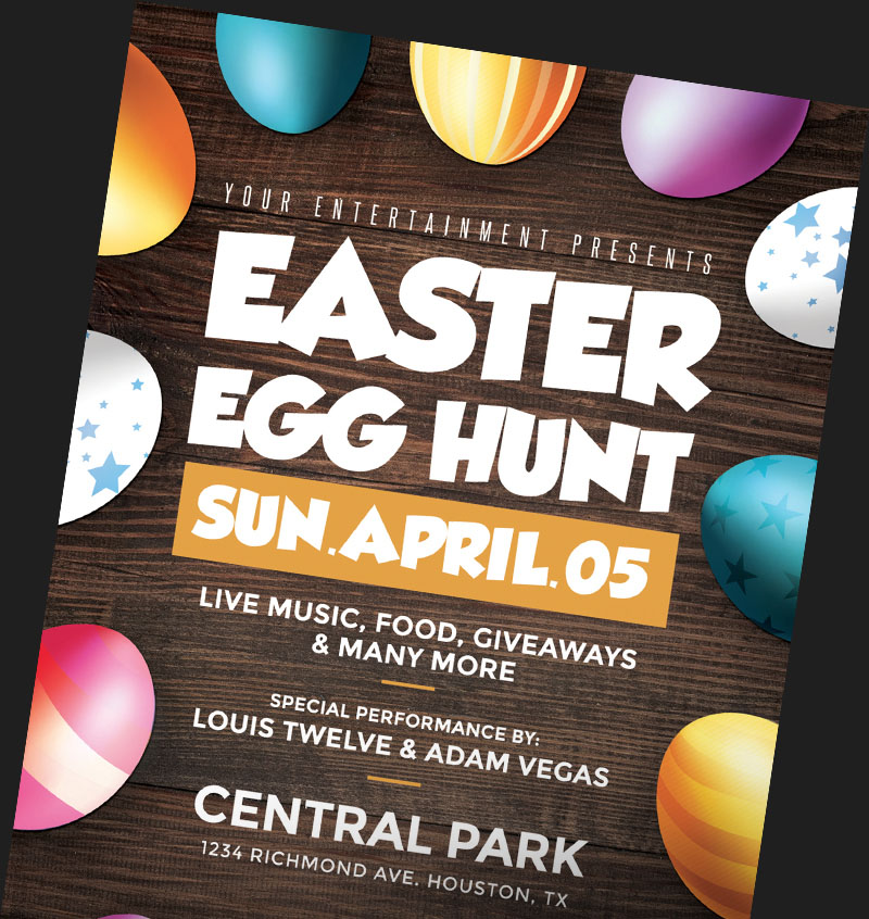 Easter Flyer Templates for Photoshop FlyerHeroes – Easter Flyer Template