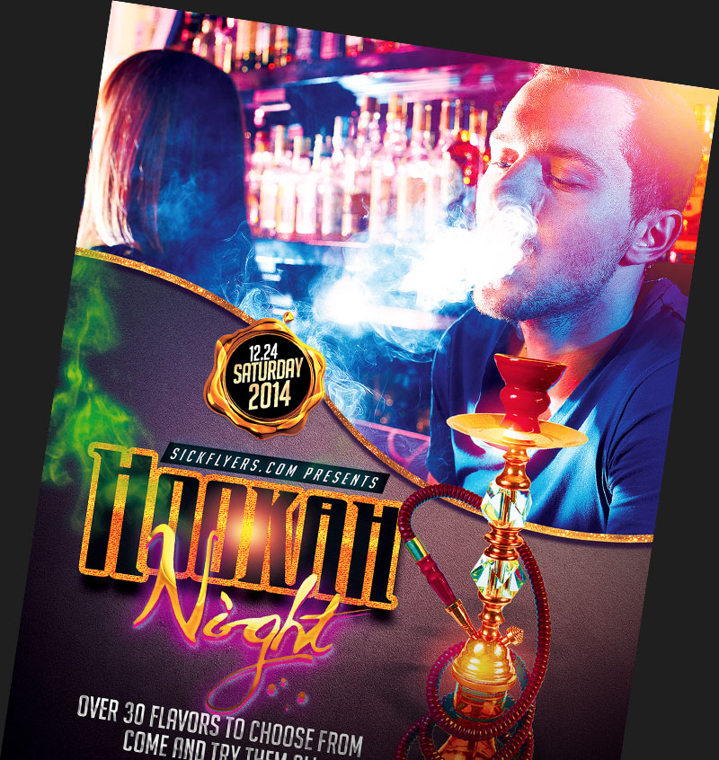 Hookah Lounge Flyer Templates for Photoshop FlyerHeroes – Lounge Flyer Template