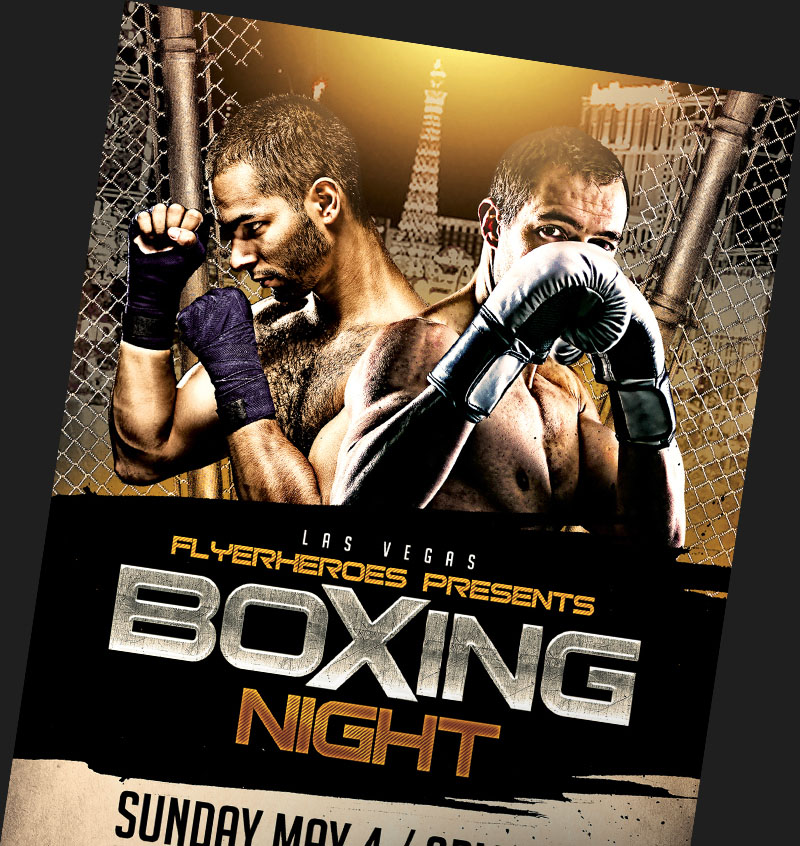 MMA Boxing Flyer Templates for Photoshop FlyerHeroes – Ufc Flyer Template