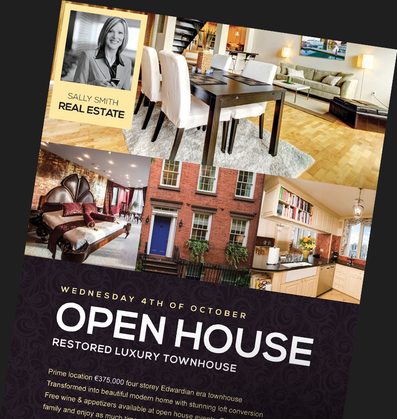 Real Estate Flyer Templates for Photoshop FlyerHeroes – Real Estate Open House Flyer Template