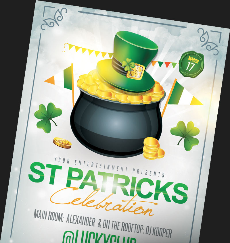 st patrick s day party v02 flyer psd template facebook cover