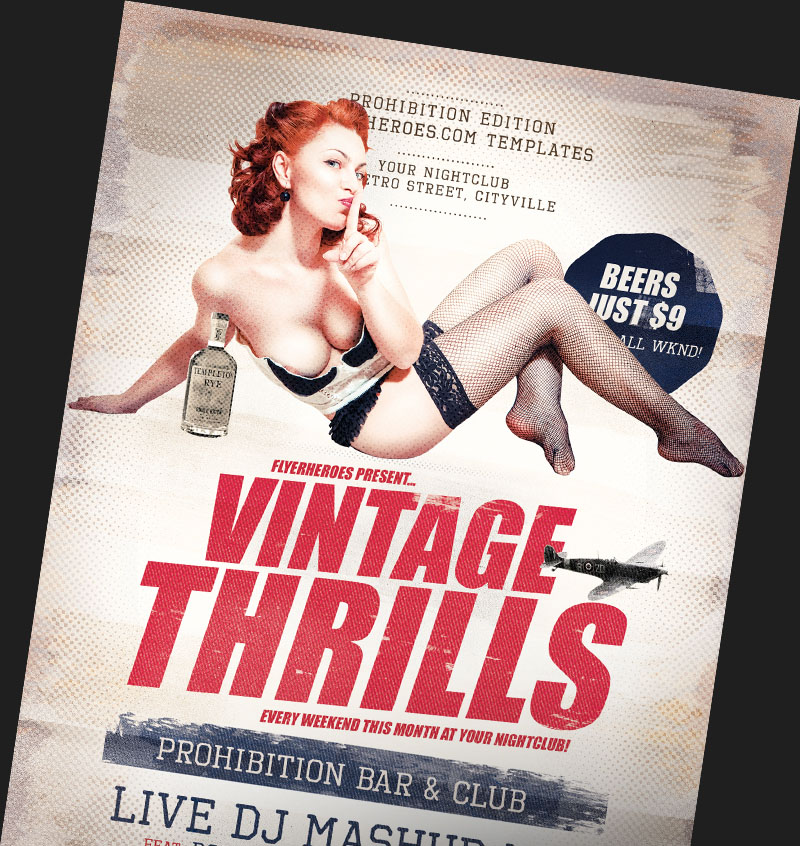 Vintage Flyer Templates Archives FlyerHeroes – Retro Flyer Templates