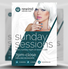 Sunday Sessions Flyer Template by FlyerHeroes 1