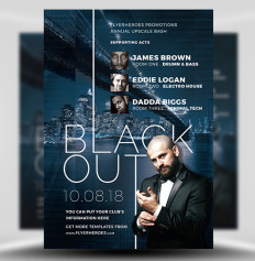 Blackout Nightclub Flyer Template 1