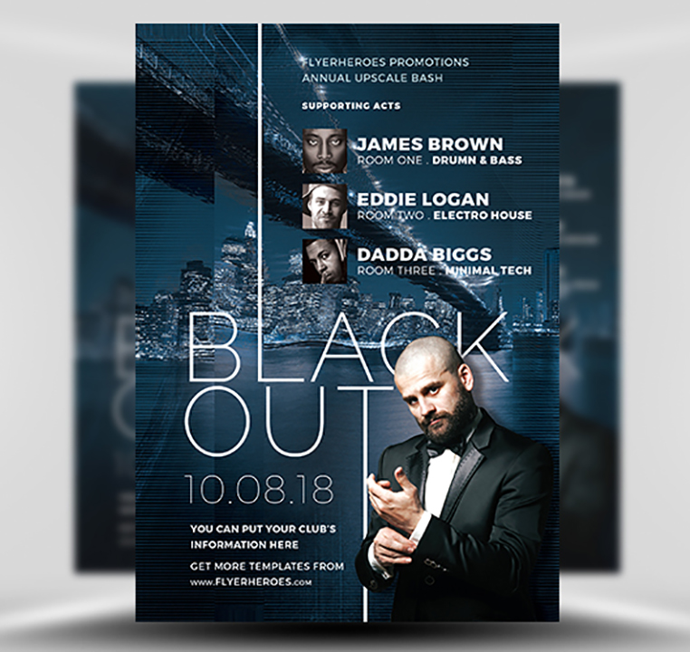 Blackout Nightclub Flyer Template FlyerHeroes – Night Club Flyer