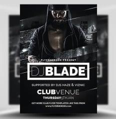 Blade DJ Flyer Template Flyerheroes Free 1