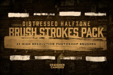 Free Distressed Halftone Brush Strokes