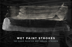 Wet Brush Strokes Photoshop Brushes