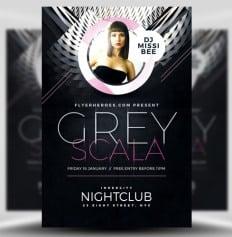 Grey Scala Flyer Template by FlyerHeroes 1