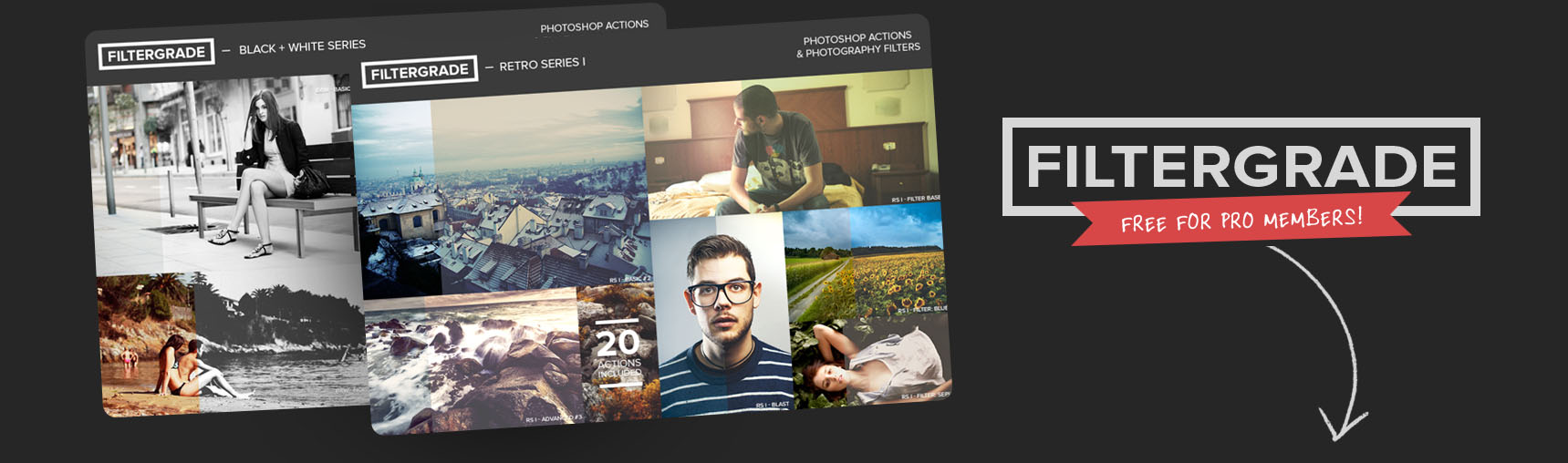 Free Photography Actions for PRO Members by FilterGrade