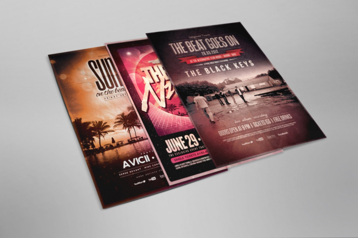 Free Flyer and Poster Mockup for Photoshop