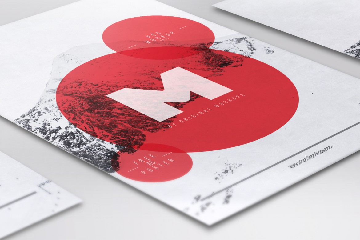 Free Flyer / Poster Mockup for Photoshop