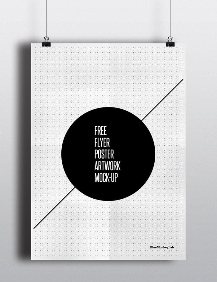 Free Flyer / Poster Mock-up by BlueMonkeyLab
