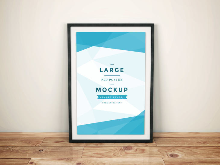 Free Framed PSD Mockup by GraphBerry