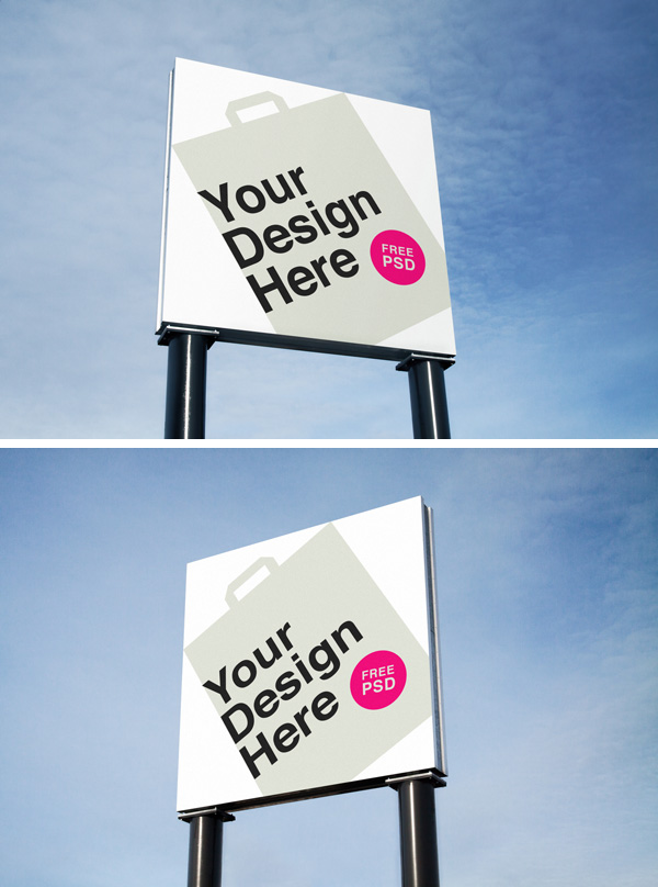 Free Outdoor Advertising MockUps for Photoshop