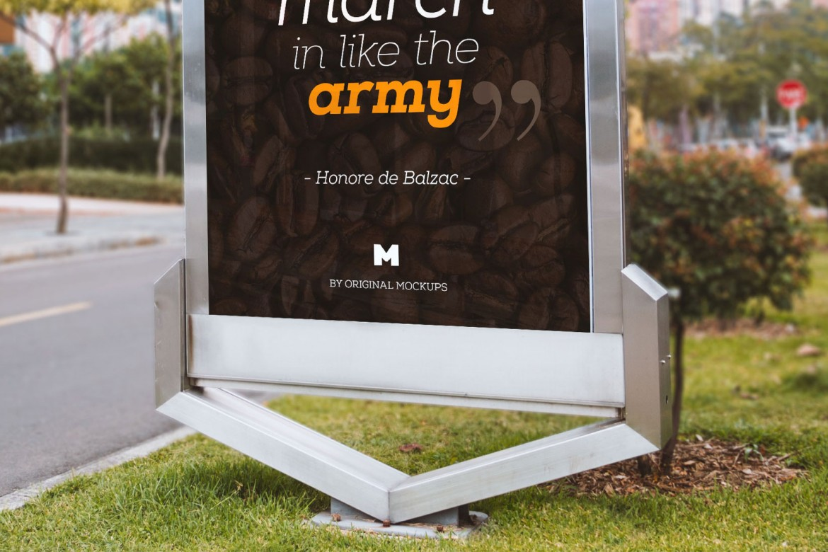 Free Outdoor Billboard Mockup