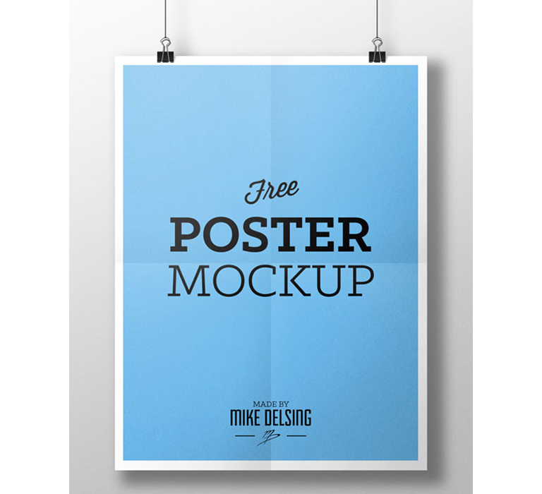 Free Poster Mock-up by Mike Delsing