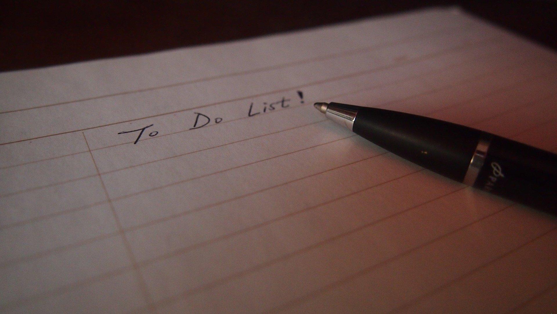 start a task list today