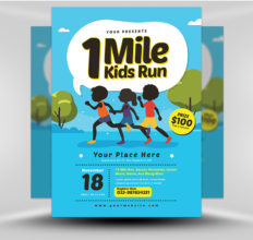6 Design Inspiration Tips For When You're Feeling Uninspired | Kids Run Flyer | FlyerHeroes.com