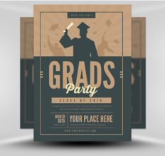 6 Design Inspiration Tips For When You're Feeling Uninspired | Grad Party Flyer | FlyerHeroes.com