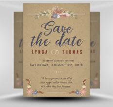 6 Design Inspiration Tips For When You're Feeling Uninspired | Save the Date Flyer | FlyerHeroes.com
