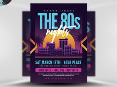 6 Design Inspiration Tips For When You're Feeling Uninspired | The 80s Nights | FlyerHeroes.com
