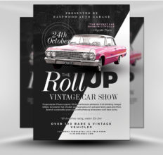 6 Design Inspiration Tips For When You're Feeling Uninspired | Vintage Car Show Flyer | FlyerHeroes.com