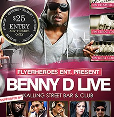 Benny D Flyer Template