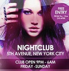 Nightclub Event Flyer Template